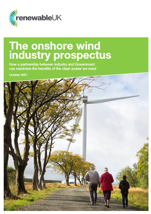 Onshore Wind Prospectus cover